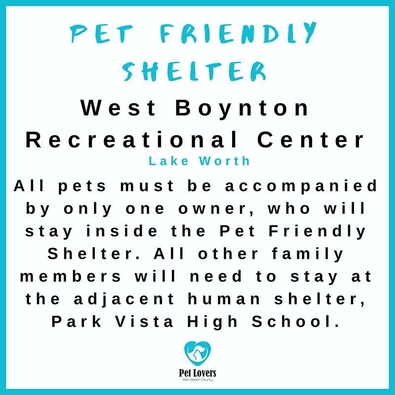Pet Friendly Hurricane Shelter